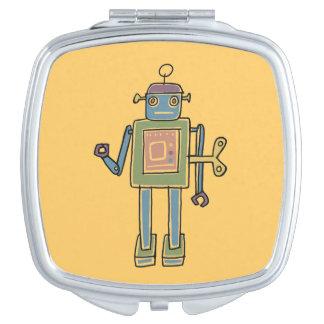 Clockwork Robot Travel Mirrors