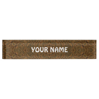 Clockwork Vintage Desk Nameplate
