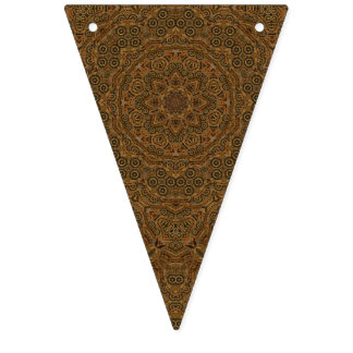 Clockwork Vintage Kaleidoscope     Bunting Flags
