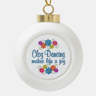 Clog Dancing Joy Ceramic Ball Ornament