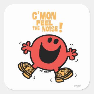 Clog Dancing Mr. Noisy Square Sticker