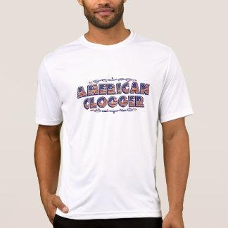 Clogging American Dancing Flag Clogger T-Shirt