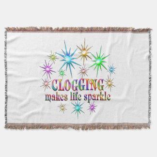 Clogging Sparkles Throw Blanket