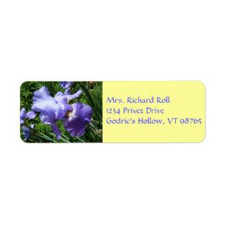 Cloistered Iris Return Address Labels