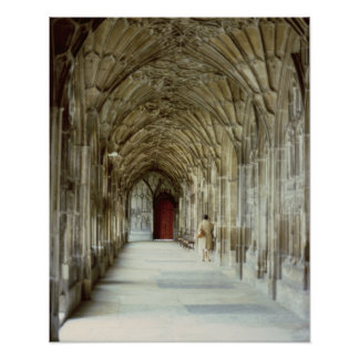 Cloisters of Gloucester Cathedral, 12th century Poster