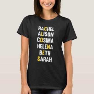Clones - Orphan Black Character List T-Shirt