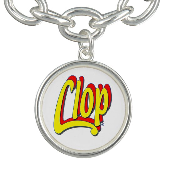 Clop Collection: Bracelet Logo, Silver Plated