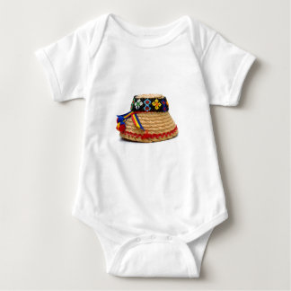 clop traditional hat baby bodysuit