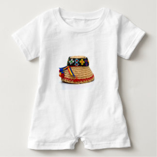 clop traditional hat baby romper