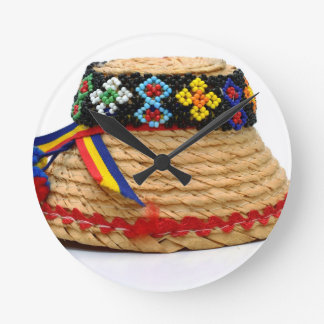 clop traditional hat round clock