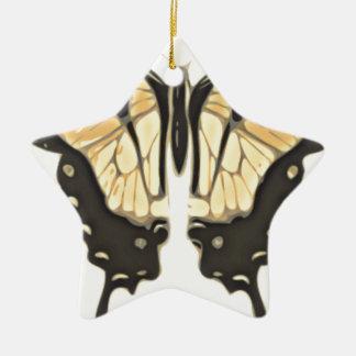 close Butterfly Ceramic Ornament