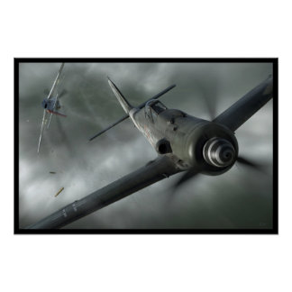 Close Call - Fw190 vs. P-51 Mustang Poster
