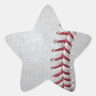 Close-up Baseball Surface Star Sticker