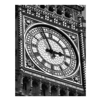 Close up Big Ben Clock Tower Travel Europe Personalized Letterhead