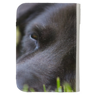 Close Up Black old dogs face with selective focus Kindle Keyboard Case