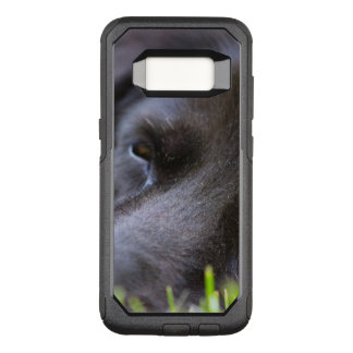 Close Up Black old dogs face with selective focus OtterBox Commuter Samsung Galaxy S8 Case