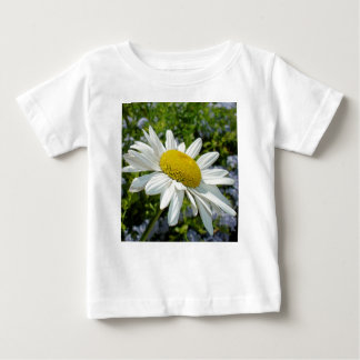 Close Up Common White Daisy With Garden Baby T-Shirt