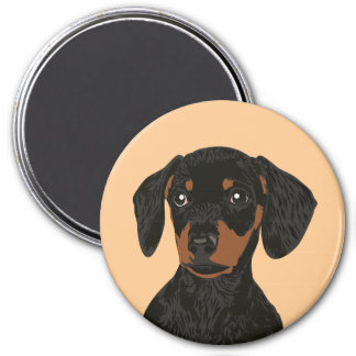 Close Up Dachshund Head for Dachshund Parents Magnet