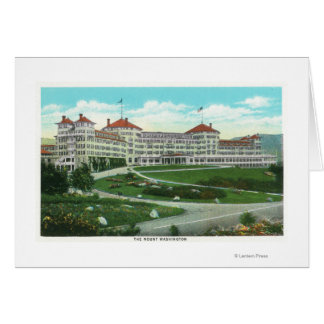 Close-up Exterior View of Mt. Washington Hotel Card