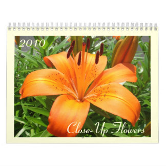 Close-Up Flowers Calendars