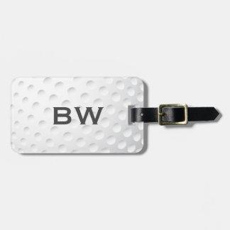 Close Up Golf Monogram Luggage Tag