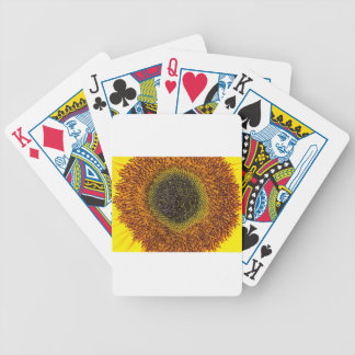 Close up heart of sunflower bicycle playing cards