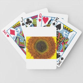 Close up heart of sunflower poker deck