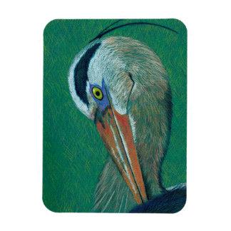 Close up Heron Magnet