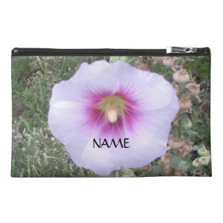 Close Up Hollyhock With Name Travel Accessory Bag