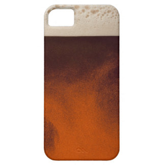 Close up image of amber colored beer with frothy case for the iPhone 5