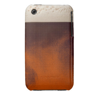 Close up image of amber colored beer with frothy iPhone 3 covers