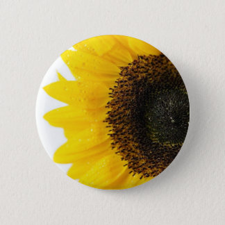 Close Up Image Of Sunflower 2 Inch Round Button