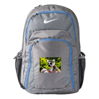 CLOSE-UP LEMUR ON CUSTOM NIKE PERFORMANCE BACKPACK
