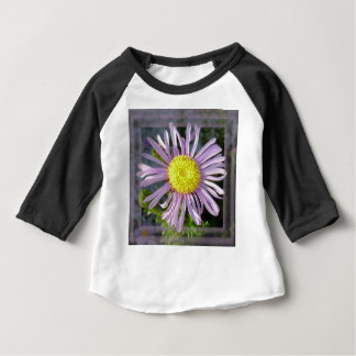 Close Up Lilac Aster With Bright Yellow Centre Baby T-Shirt
