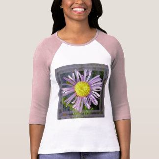 Close Up Lilac Aster With Bright Yellow Centre T-Shirt