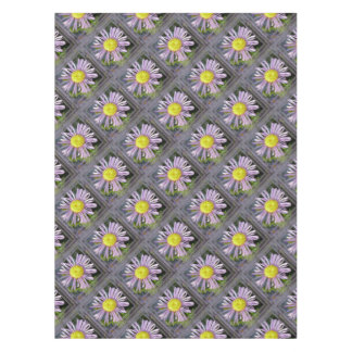 Close Up Lilac Aster With Bright Yellow Centre Tablecloth