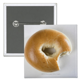 Close-up of a bagel 2 inch square button
