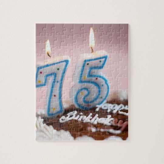 close-up of a birthday cake 2 jigsaw puzzle