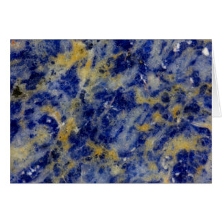 Close up of a Blue Sodalite Card