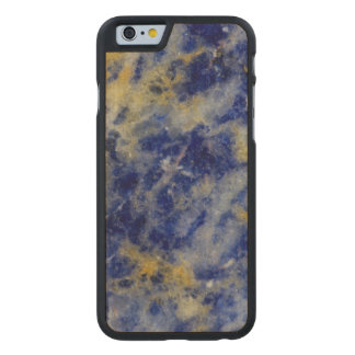 Close up of a Blue Sodalite Carved® Maple iPhone 6 Slim Case