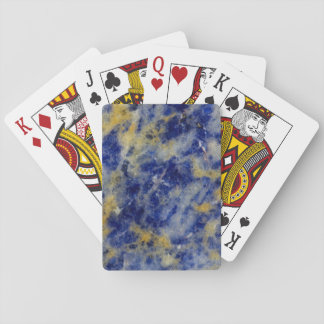 Close up of a Blue Sodalite Playing Cards