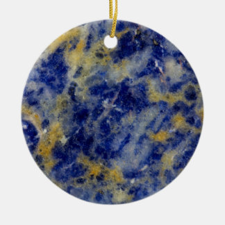 Close up of a Blue Sodalite Round Ceramic Ornament