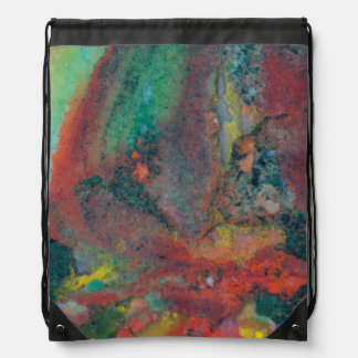 Close up of a Christmas Jasper Drawstring Bag