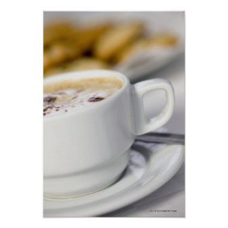 Close-up of a cup of coffee poster