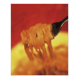 close-up of a forkful of pasta poster