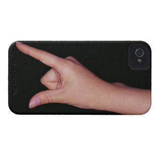 Close-up of a hand with finger and thumb iPhone 4 case