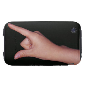Close-up of a hand with finger and thumb iPhone 3 tough covers