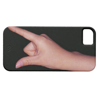 Close-up of a hand with finger and thumb iPhone 5 cover