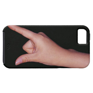 Close-up of a hand with finger and thumb iPhone 5 covers
