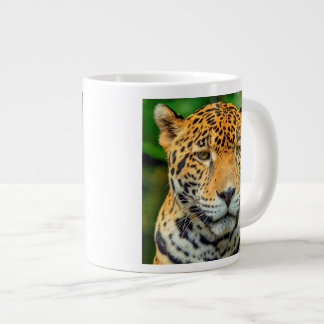 Close-up of a jaguar face, Belize Giant Coffee Mug